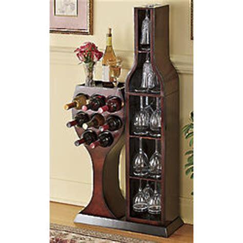 Wine Bottle Shaped Wine Rack by Conversation Wine Bottle And Wine Glass Rack