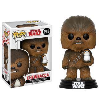 Funko Pop Original Wars Viii The Last Jedi Chewbacca With Porg figurine funko pop wars episode viii the last jedi chewbacca avec porg autre