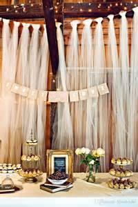 Wedding Backdrops Diy Easy Diy Tulle Buffet Backdrop Wedding Decoration Diy Tulle Wedding Decorations Pinterest