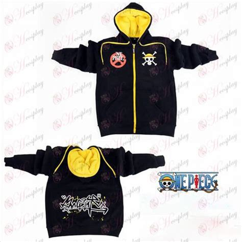 Sweater One Luffy one accessories luffy logo zipper sweater hoodie black cosplaymades