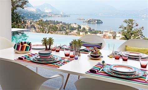 missoni home launches luxury tableware