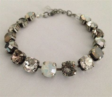 how to make sabika jewelry swarovski bracelet grey and opal tones not