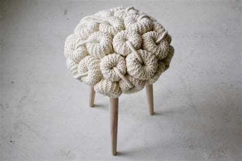 Fluffy Mushy Stool by Exciting Conceptual Furniture Designs From The Balkans