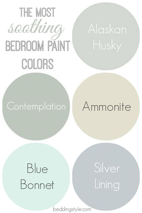 Soothing Paint Colors | how to decide on bedroom paint colors from beddingstyle com