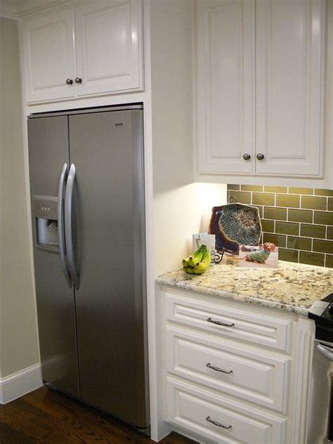 built in fridge cabinet 25 best ideas about counter depth refrigerator on