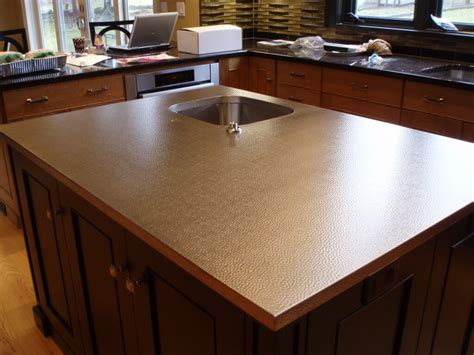 hammered stainless steel countertops brooks custom