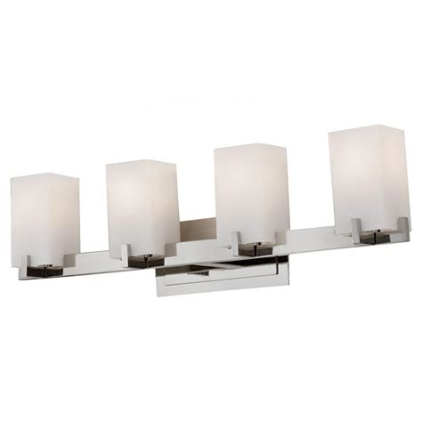 Feiss Vanity Lighting Feiss Riva 4 Light Polished Nickel Vanity Light Vs18404 Pn The Home Depot