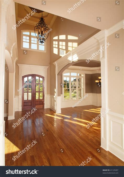 home inside arch model design image model luxury home interior front entrance arch way stock