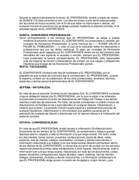 contrato de prestaci 243 n de servicios contratante municipio contrato de prestacion de servicios profesionales