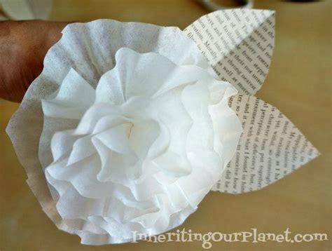Coffee Filter Paper Crafts - coffee filter paper flowers craft activities for