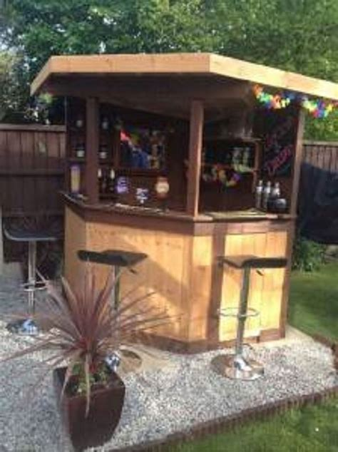 Garden Of Bars 5ft Deluxe Corner Garden Bar Pub Entertaining Area Outdoor