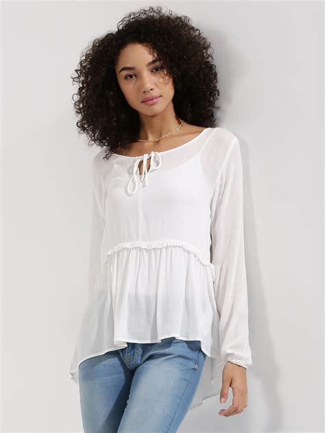 Knots Blouse White buy only tie knot blouse for s white blouses