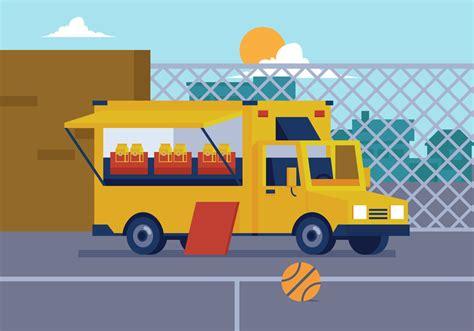 food truck design vector vector food truck download free vector art stock