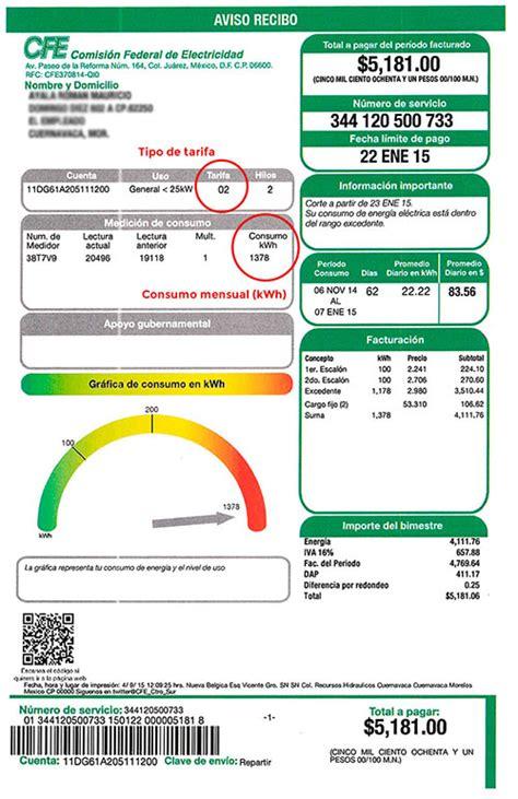 recibo de luz mexico recibo de luz mexico cotizador online energ 237 a libre