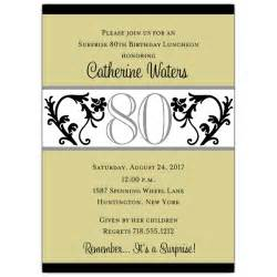 vine chartreuse 80th birthday invitations paperstyle