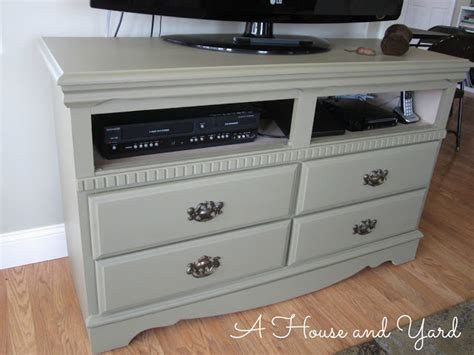chalk paint tv cabinet a house and yard dresser chalk paint tv stand
