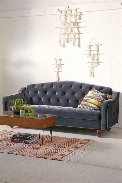 velvet tufted sleeper sofa outfitters