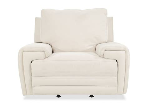 white glider recliner casual 49 quot motion power glider recliner in white mathis