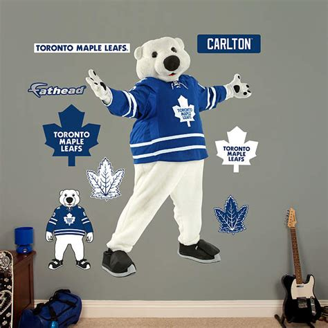 toronto maple leafs carlton the toronto maple leafs mascot carlton wall decal shop
