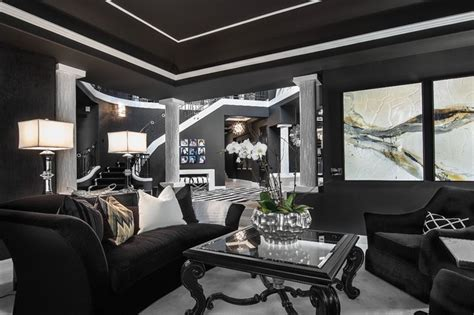 black n white design living room copy advice for your sjc dramatic remodel contemporary living room orange