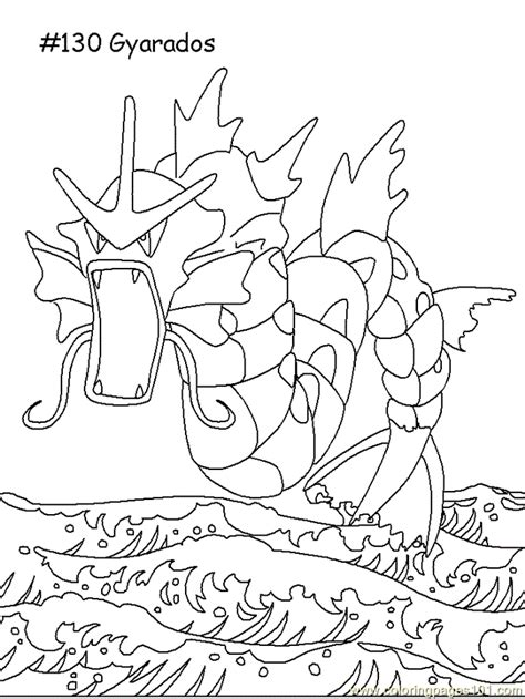 pokemon coloring pages gyarados gyarados coloring page free pokemon coloring pages