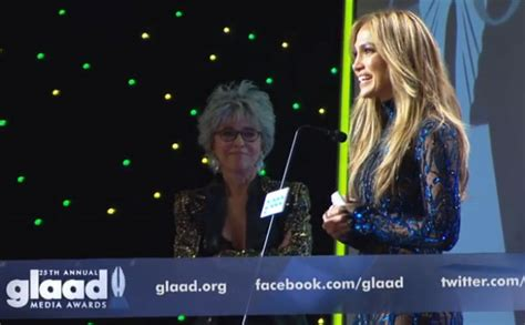 Is Here Gueer At Glaad Awards by Moreno Presents With Glaad Award