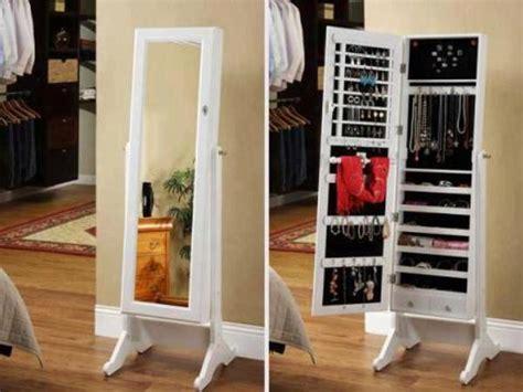 diy mirror jewelry armoire wonderful stylish jewelry armoire cheval mirror