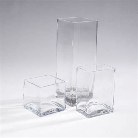 Rectangular Glass Vases For Centerpieces by Square Rectangular Vases Rc Events