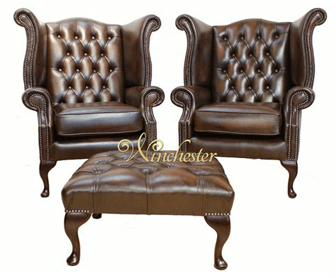 professor s leather reading chair traditional chesterfield offer pair queen anne high back wing chair