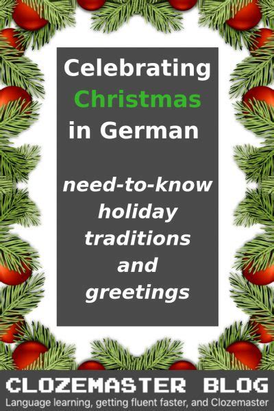 merry christmas  german holiday traditions