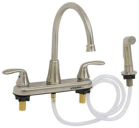 Phoenix Faucets 8 Quot Dual Handle Rv Kitchen Faucet With Side Kitchen Faucet For Rv