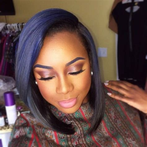 jet black hair for 40 year old woman with red highlights 50 bob hairstyles for black women hairstyles update