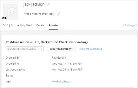 Hireright Background Check Completed I Use Hireright What Does The Integration Look Like How Do I Enable It