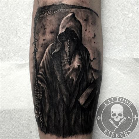 plague doctor tattoo studio a cut of shop and barbershop