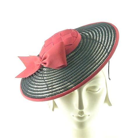 mini boater hat sheer black saucer hat for women 1920s mini boater hat