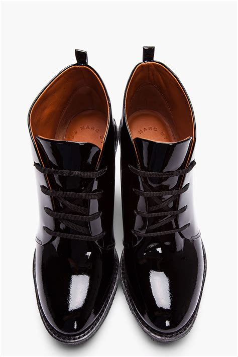 marc by marc black patent leather classic wedge
