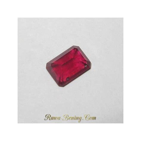 Batu Ruby Chatam Top Luster batu ruby warna top luster bagus rectangular