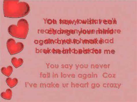heart pattern lyrics english love can make your heart go crazy english song lyrics