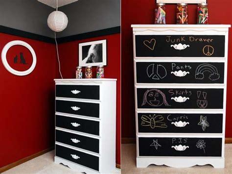Black And White Dresser Ideas by Blackboard Paint Diy Modern Furniture Decoration In Black