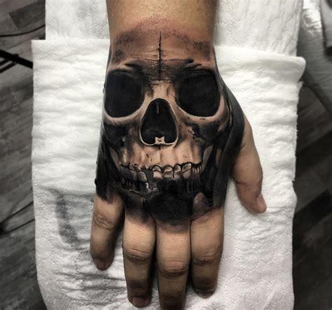 skull tattoo on your hand dark hand skull best tattoo design ideas