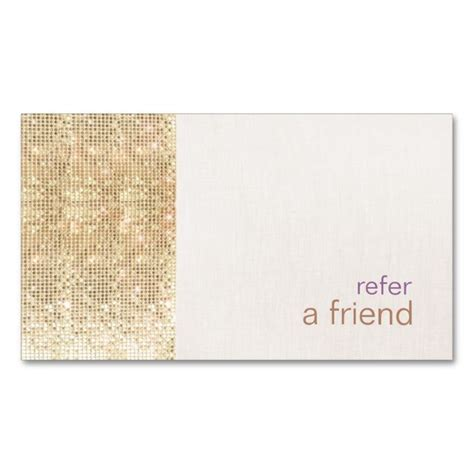 salon referr a friend card templates 2257 best images about gold business card templates on