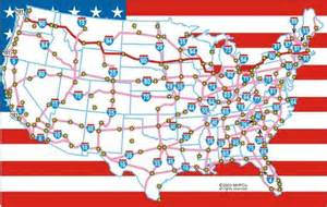pin usa freeways map on
