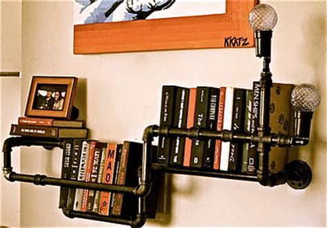 Industrial Floor L Bookshelf By Stella Bleu Designs by Get Funky With Some Industrial Decor Rustic Crafts