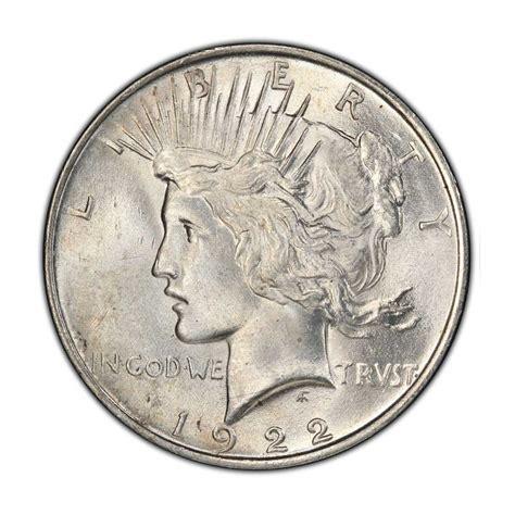 1 dollar silver coin 1922 1 peace dollar ms 64 1922 p silver coin 26 73g