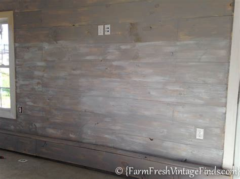 Knotty Oak Kitchen Cabinets how to whitewash plank walls farm fresh vintage finds
