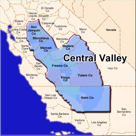 california map central valley central valley apartment market