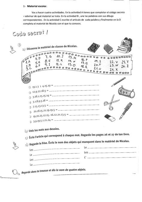 ejercicios de francs para 8467046597 actividades refuerzo franc 233 s