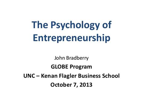 Mba At Unc Login by Unc Kenan Flagler Presentation The Psychology Of