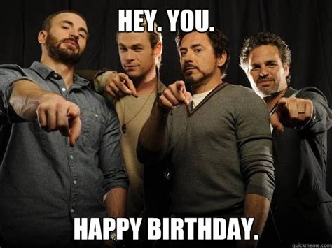Birthday Workout Meme - avengers happy birthday meme google search happy