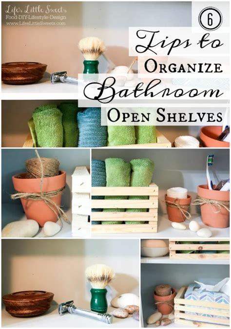 How To Organize A Shelf by Tips To Organize Bathroom Open Shelves Scotch Brite